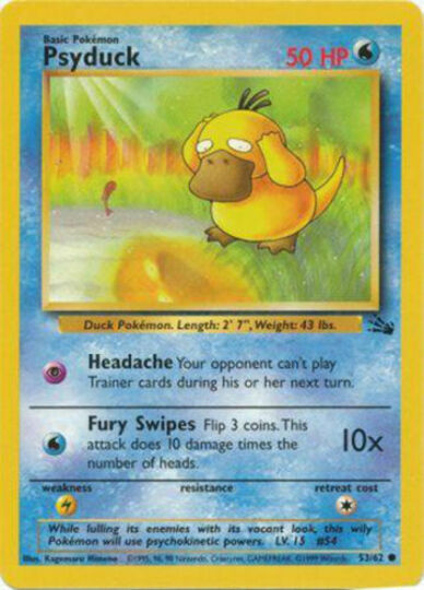 psyduck 53/62 unlimited