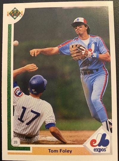 1991 Upper Deck Expos Tom Foley 381