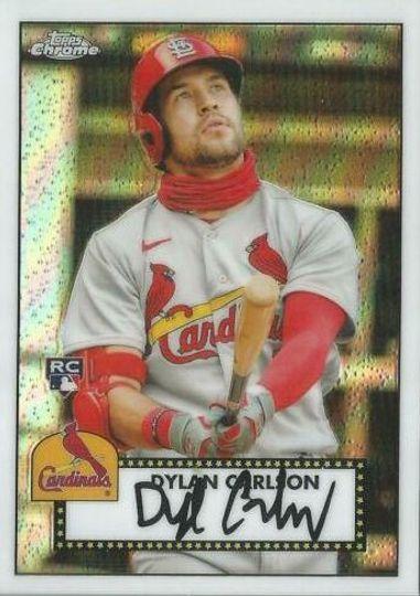 2021 Topps Series 1 Dylan Carlson #TC52-33 1952 Redux Chrome Rookie