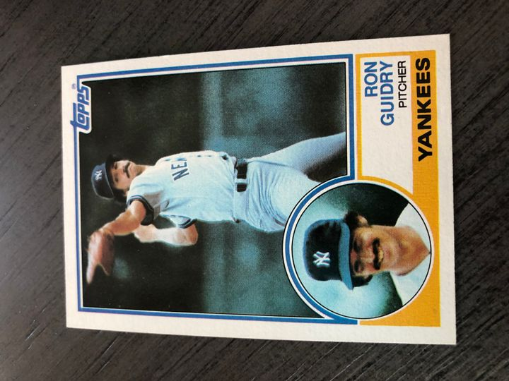 1983 TOPPS RON GUIDRY 440