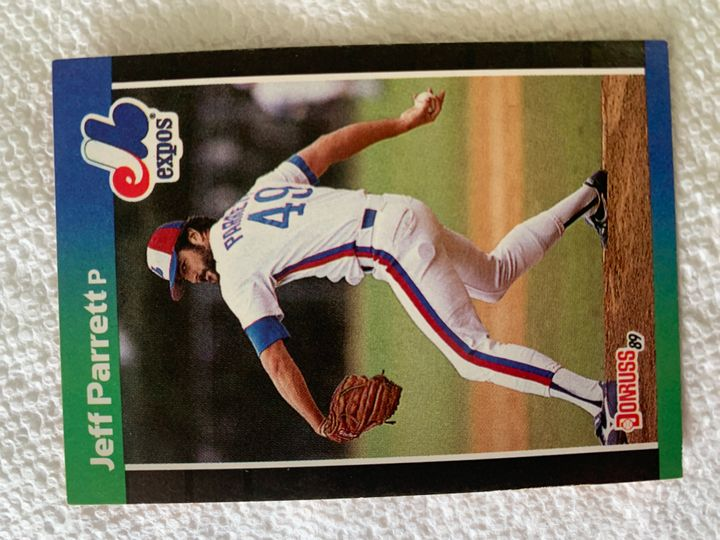 1989 Donruss Jeff Parrett 334
