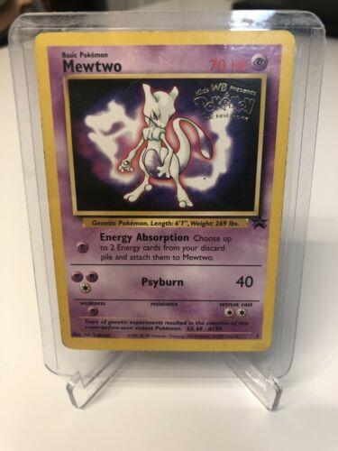 Pokemon Mewtwo 3 Promo Rare Card WoTC Promo Kids WB The First Movie MINT