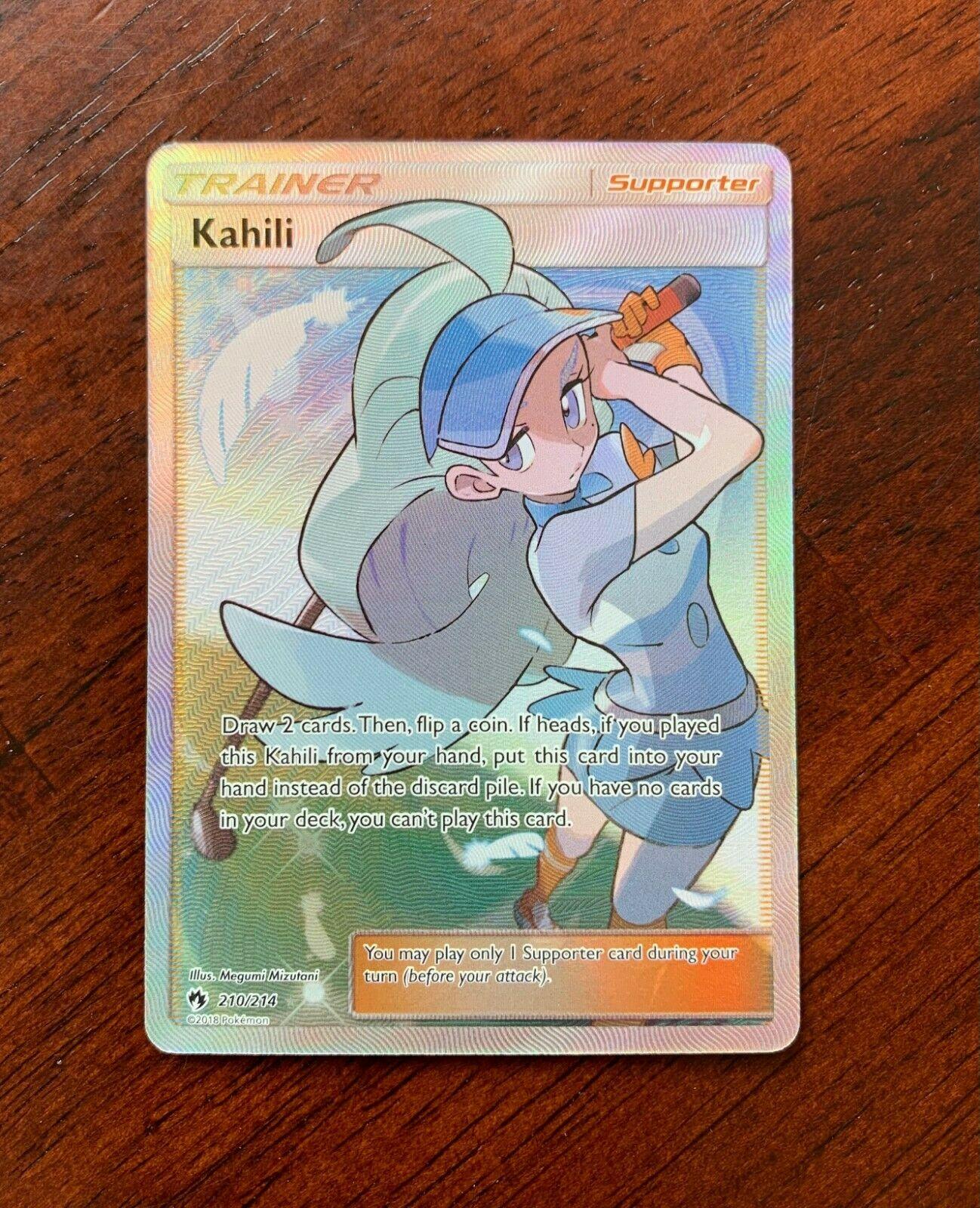 Kahili Full Art Ultra Rare NM Sun /& Moon Dragon Majesty 210//214