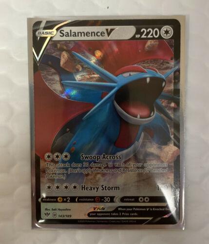 Salamence V 143//189 Ultra Rare Darkness Ablaze