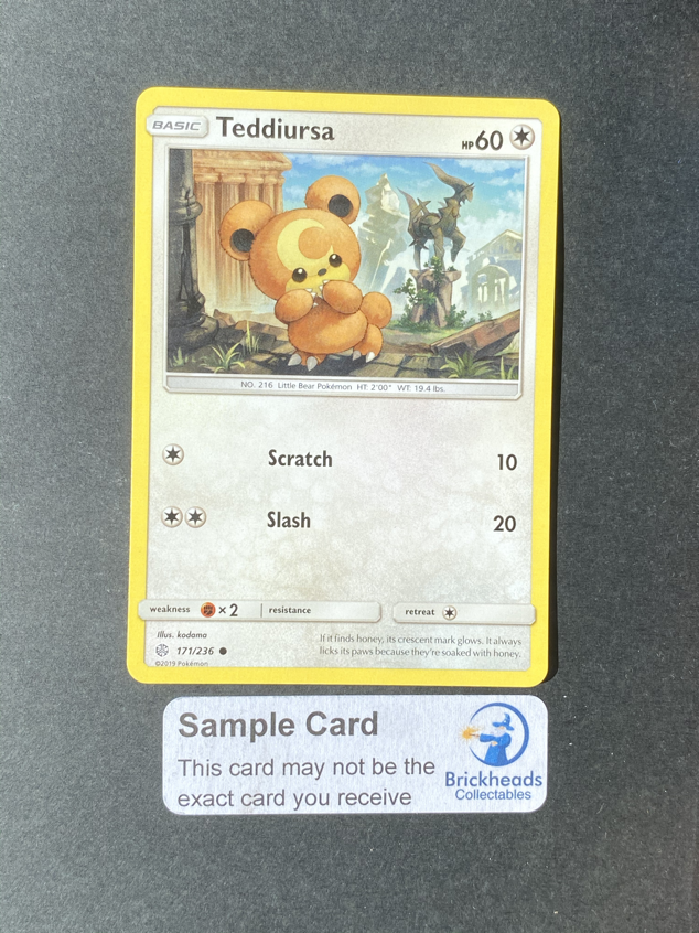 Pokemon Sammelkarte SM12 TCG Welten im Wandel Reverse Holo 171//236 Teddiursa
