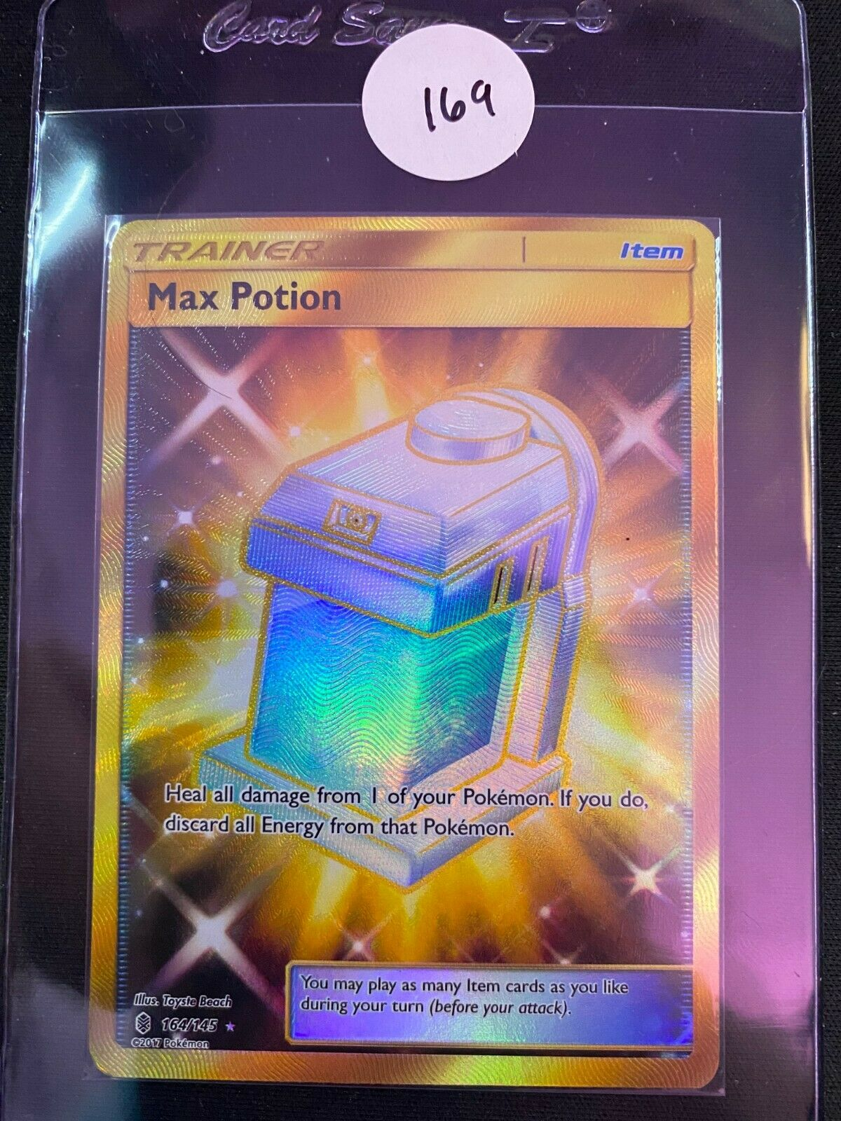 LP FULL ART Pokemon MAX POTION Card GUARDIANS RISING Set 164//145 Trainer Item