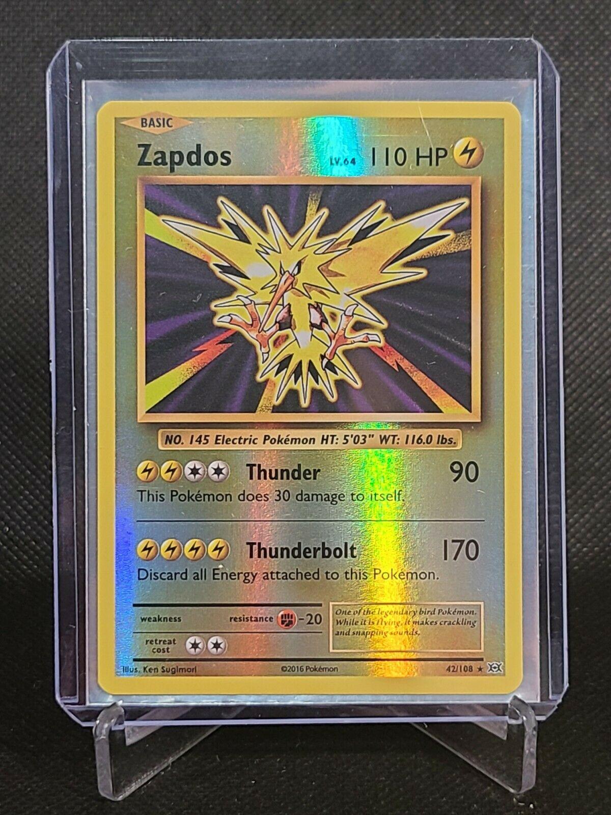 XY Evolutions Holo Rare Pokemon Zapdos 42//108