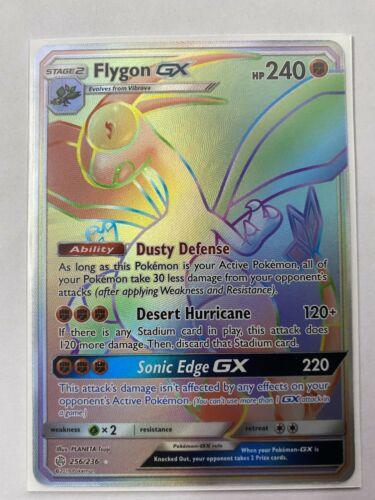 Pokemon Card  FLYGON GX  Secret Rare  256//236 COSMIC ECLIPSE *MINT*