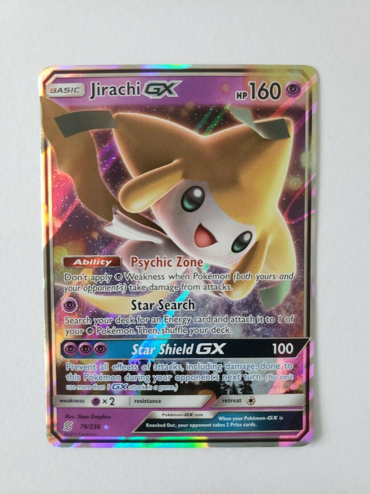 Sammeln & Seltenes Jirachi 79/236 GX EN Mint Unified Minds Sun and Moon  Pokémon Sammelkartenspiel