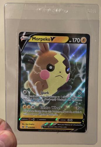 Morpeko V Ultra Rare NM Sword /& Shield 079//202 Pokemon TCG