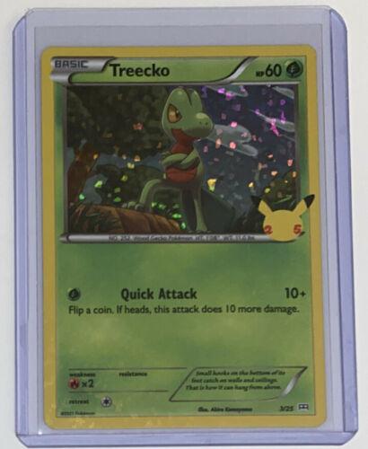 Pokemon McDonald's 25th Anniversary Treecko 3/25 Holo Promo Card 2021 Hologram