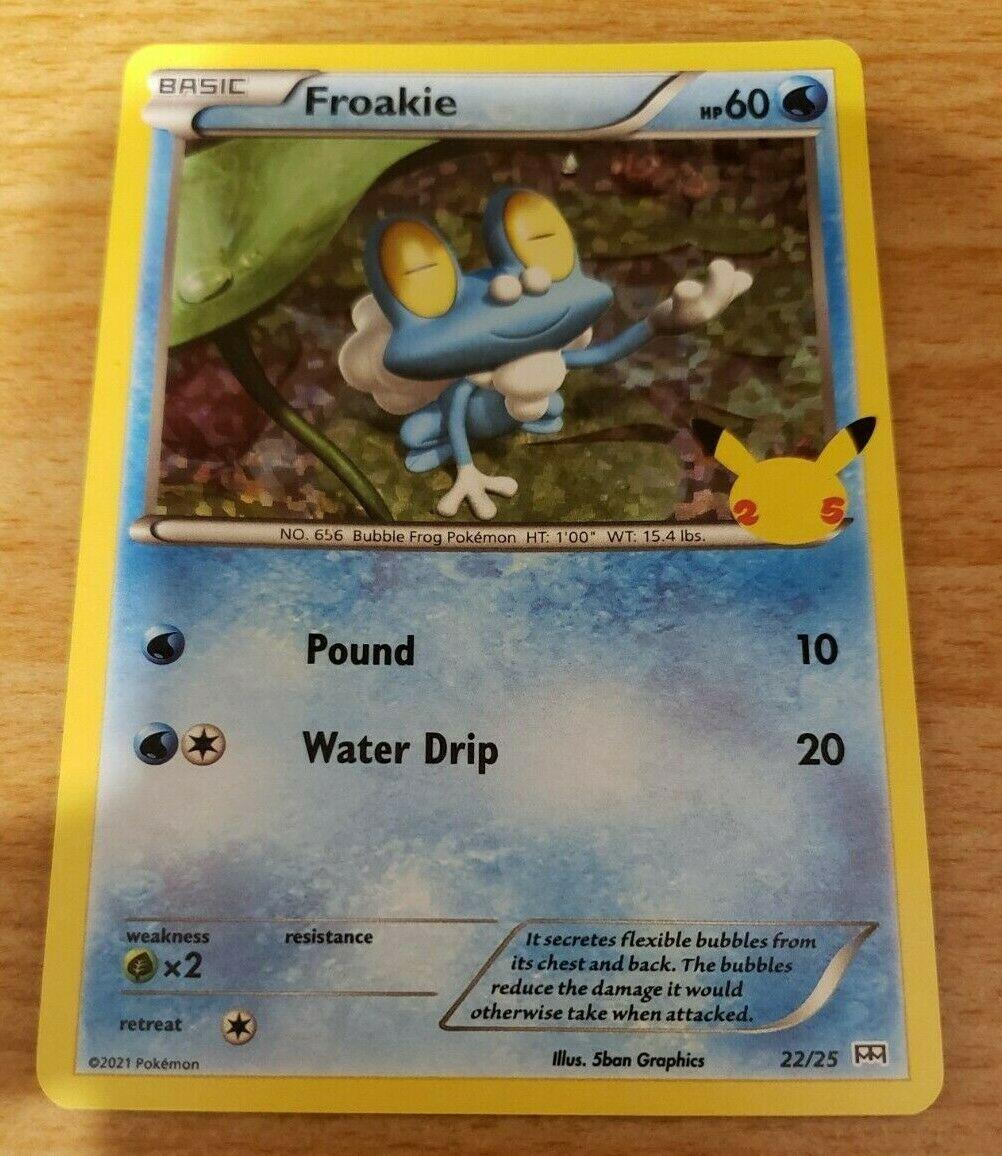 1x Froakie Pokemon CCG McDonald's Holo # 22/25