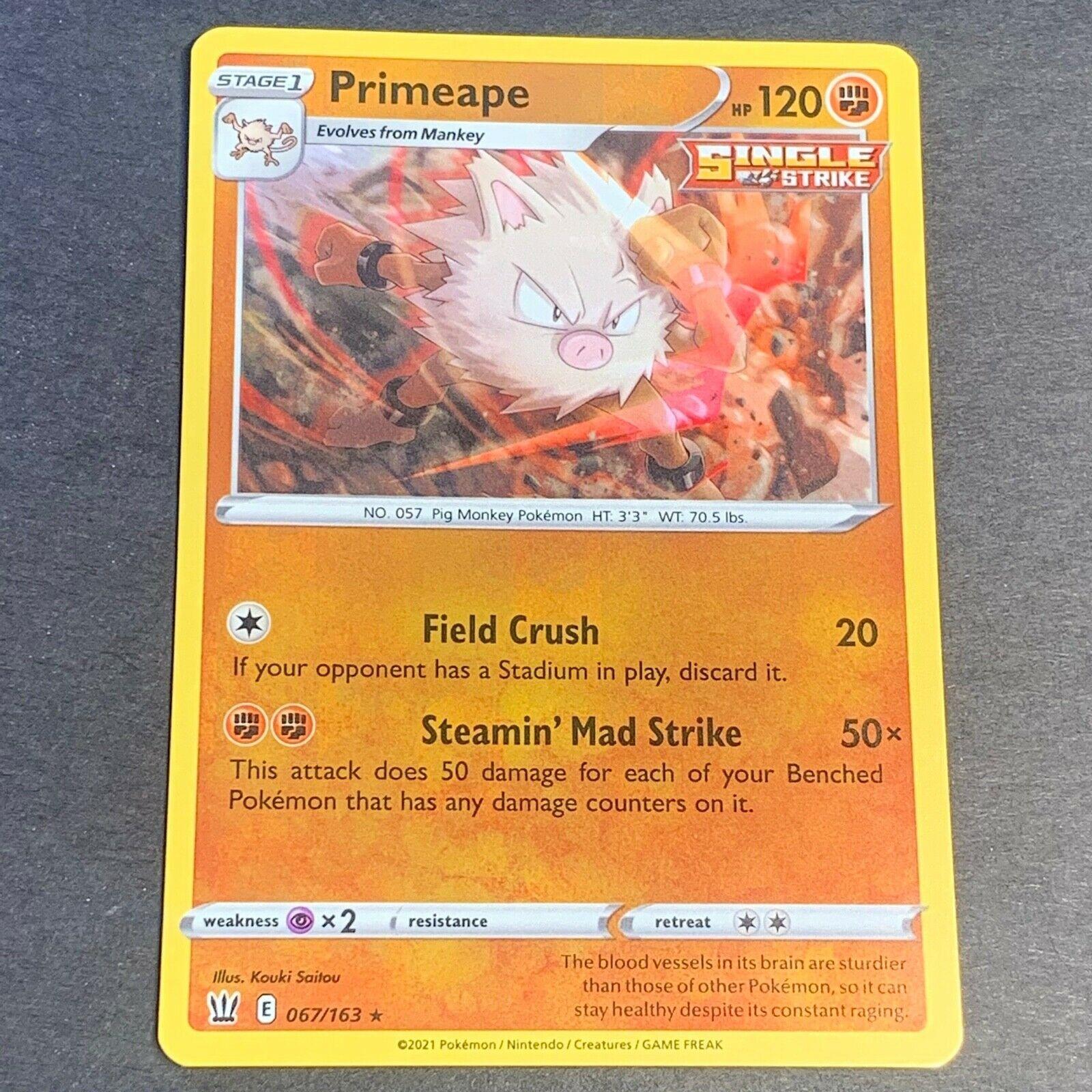 Pokemon S&S Battle Styles Set REVERSE HOLO (R.) Primeape 067/163 - Near Mint NM