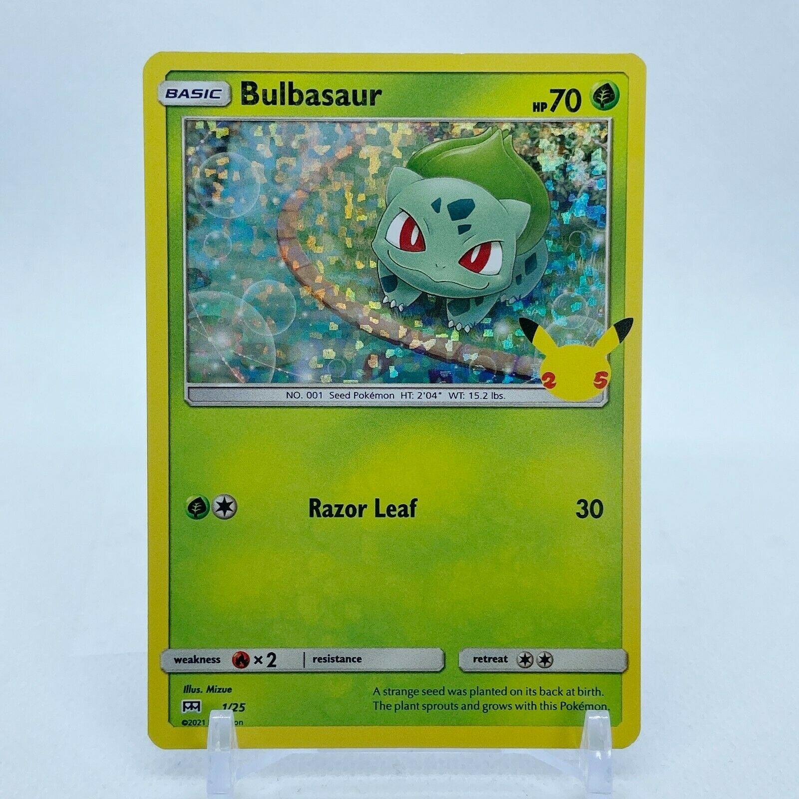 Bulbasaur - 1/25 Mcdonald's Promo 25th Anniversary Holo Starter Pokemon- NM/MINT