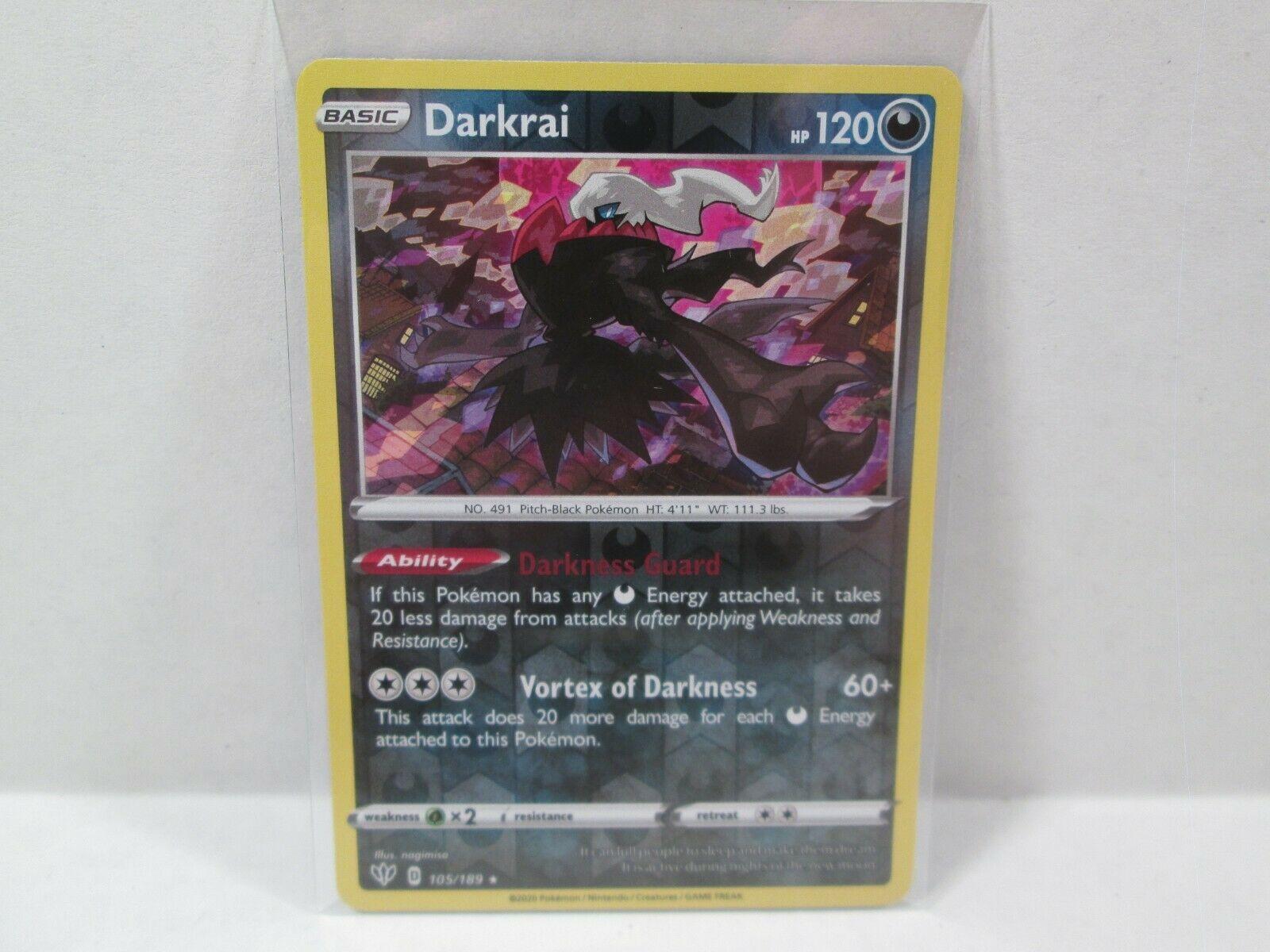 Details about  /x1 Darkrai 105//189 Holo Rare Pokemon SS03 Darkness Ablaze M//NM