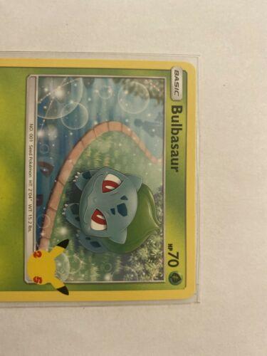 Pokemon McDonald's 25th Anniversary bulbasaur 1/25 MISCUT Card 2021 Near Mint.