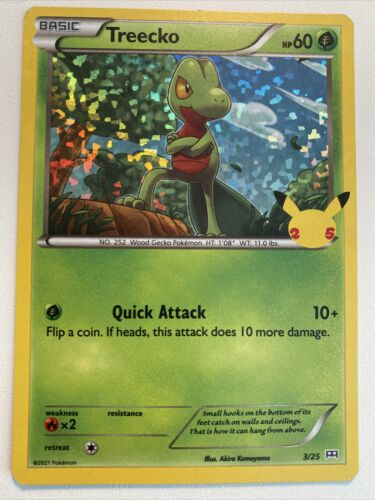 Pokemon Holo McDonald's 25th Anniversary Treecko 3/25