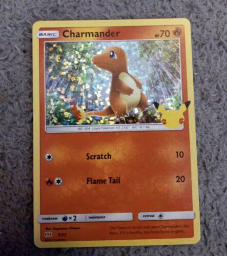 Pokemon McDonald's 25th Anniversary Charmander 9/25 Holo Promo Card 2021