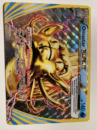 Ultra Rare NM Fates Collide Pokemon Card: Omastar BREAK 19//124