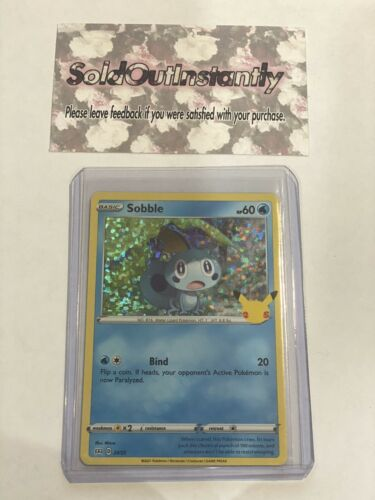 Sobble 24/25 - Pokemon 25th Anniversary - McDonald's Stamped Holo Promo NM/M