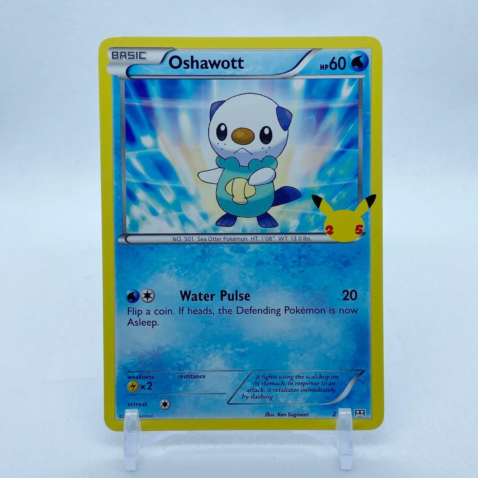 Oshawott - 21/25 Mcdonald's Promo 25th Anniversary Starter Pokemon - NM/MINT