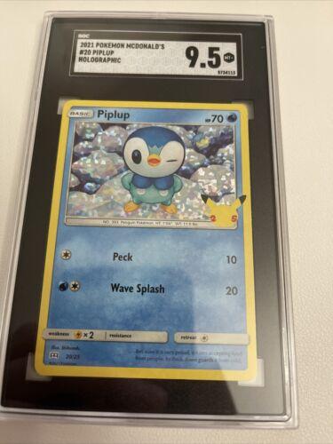 2021 PIPLUP HOLO 20/25 McDonald's Pokemon Card 25th Anniversary SGC 9.5 NOT PSA