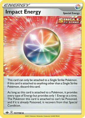 x1 Impact Energy - 157/198 - Uncommon - Reverse Holo Pokemon SS06 Chilling Reign