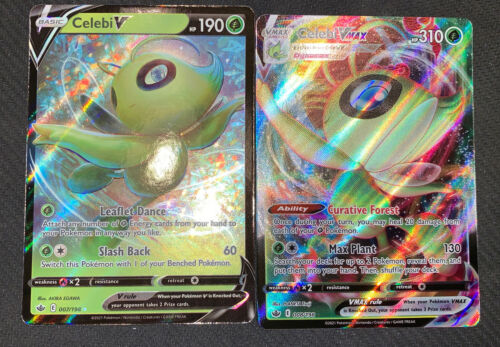 Pokemon Celebi V 007/198 & Celebi VMAX 008/198 - Chilling Reign - NM/Mint - Image 1