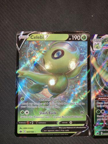 Pokemon Celebi V 007/198 & Celebi VMAX 008/198 - Chilling Reign - NM/Mint - Image 2