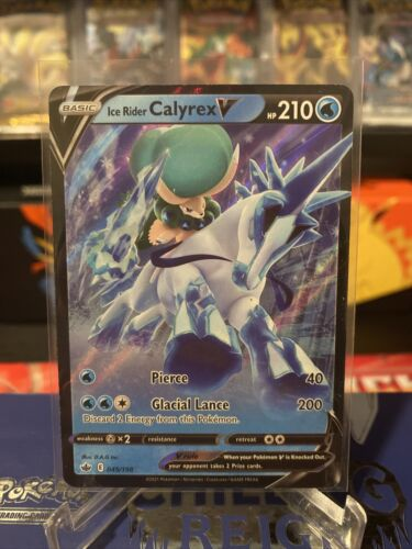 Ice Rider Calyrex V 045/198 NM Mint Chilling Reign Rare Holo Pokemon Card - Image 1