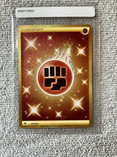Pokemon Chilling Reign Fighting Energy GOLD SECRET RARE Card 233/198  - Image 1