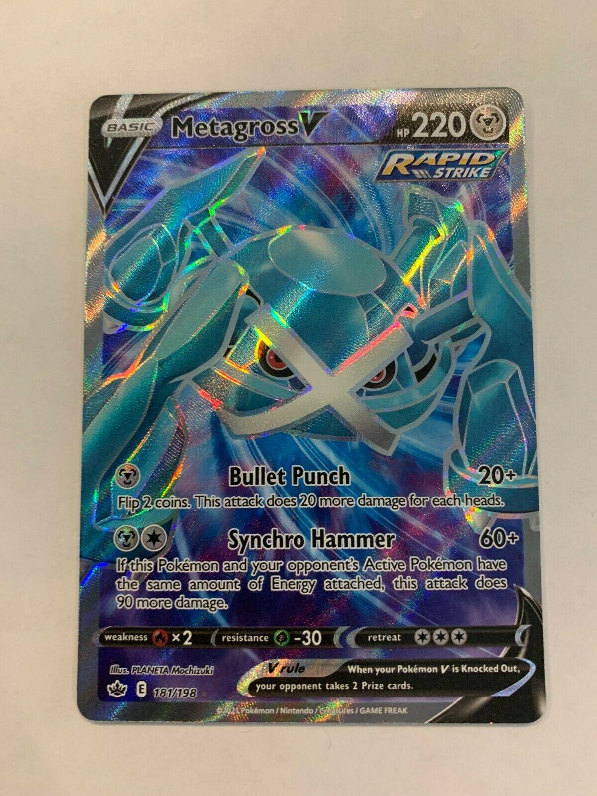 Metagross V - 181/198 - Full Art Ultra Rare Pokemon TCG SS06 Chilling Reign NM