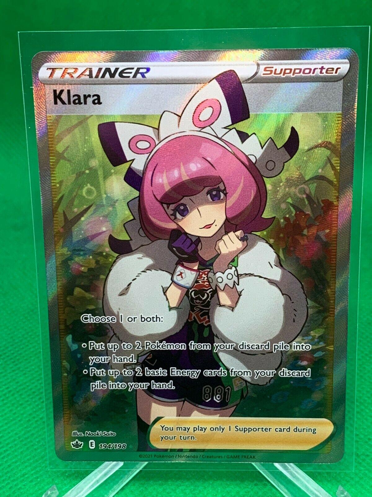 Pokemon - Klara - Chilling Reign - 194/198 - Full Art Trainer - NM