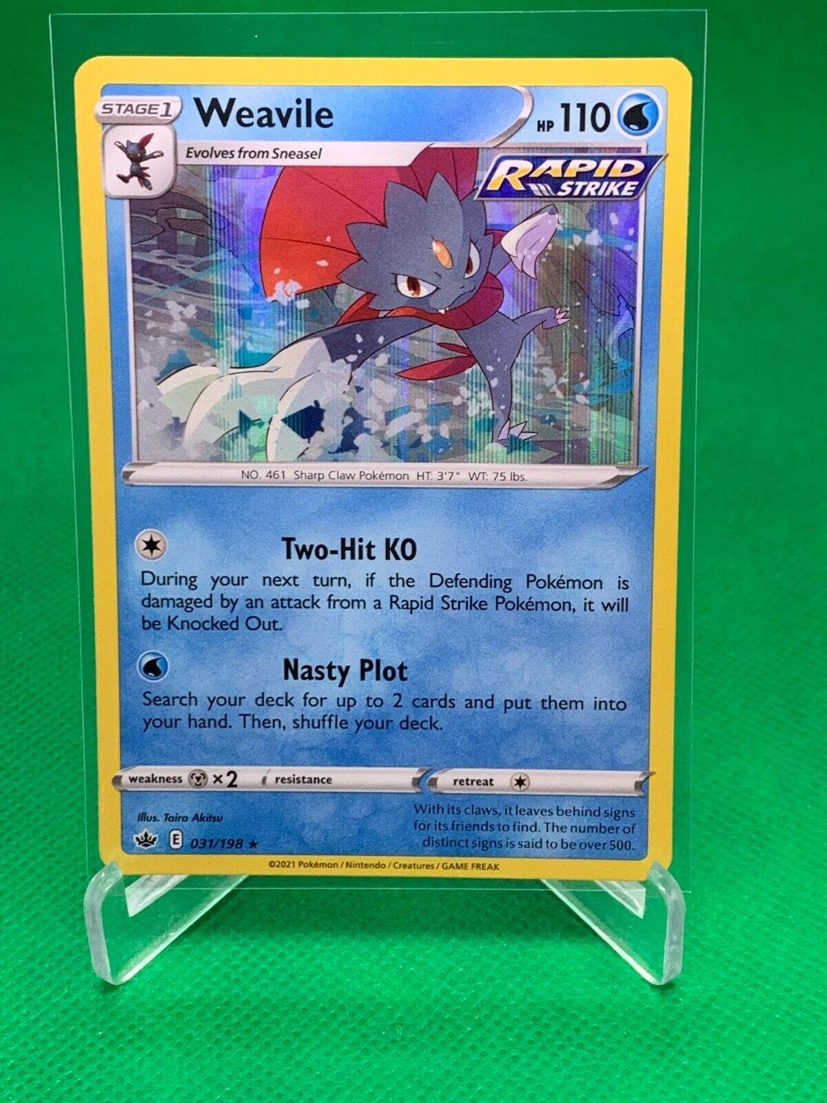 Pokemon - Weavile - Chilling Reign - 031/198 - Holo Rare