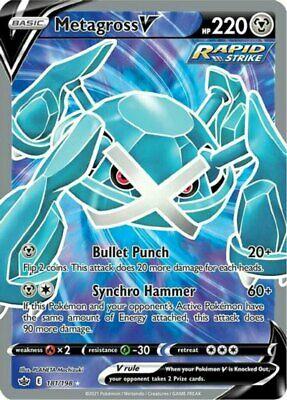 x1 Metagross V - 181/198 - Full Art Ultra Rare Pokemon SS06 Chilling Reign M/NM