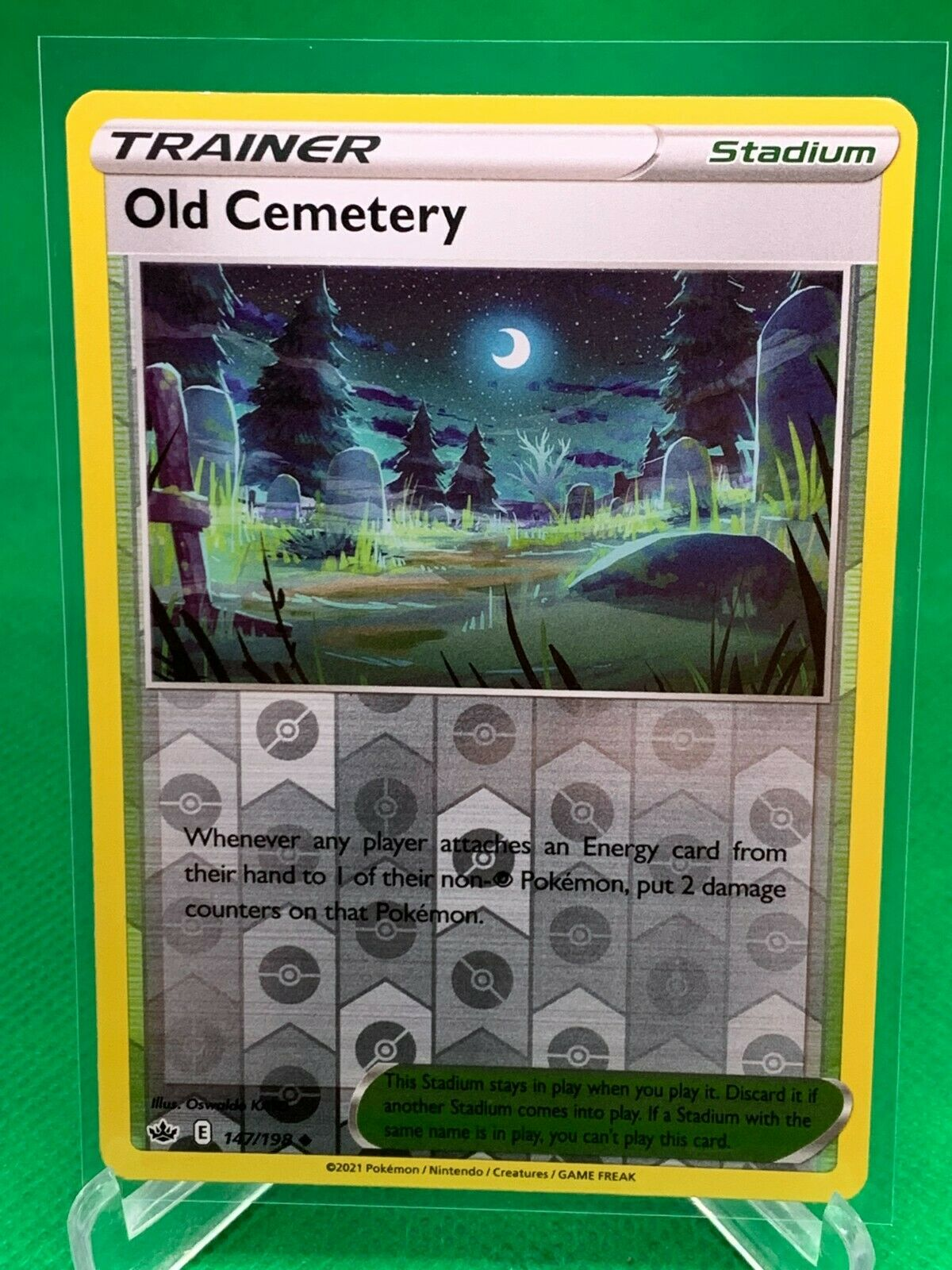 Pokemon - Old Cemetery - Chilling Reign - 147/198 - Reverse Holo
