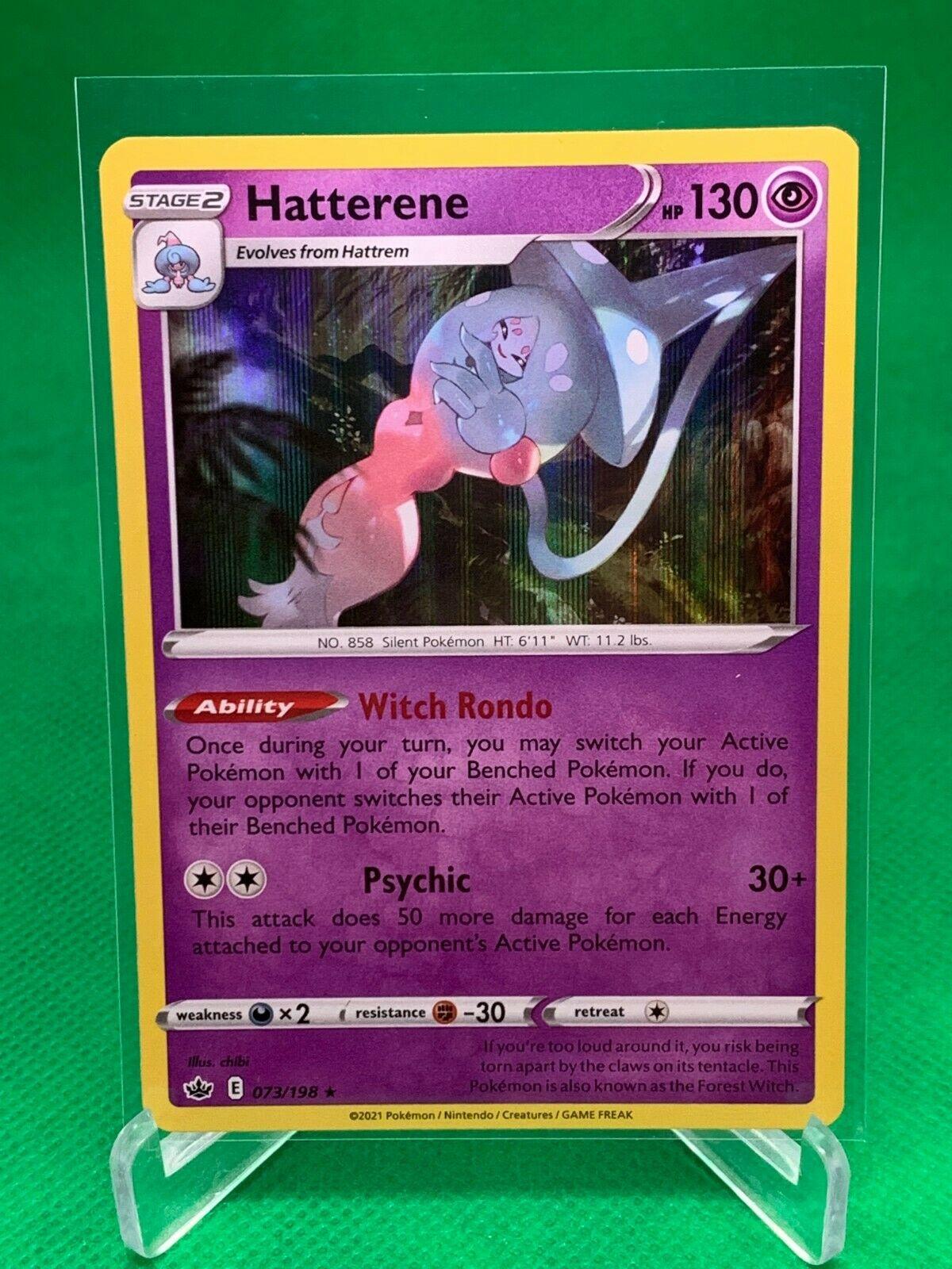 Pokemon - Hatterene - Chilling Reign - 073/198 - Holo Rare