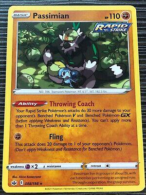 Pokemon : SWSH CHILLING REIGN PASSIMIAN 088/198 RARE