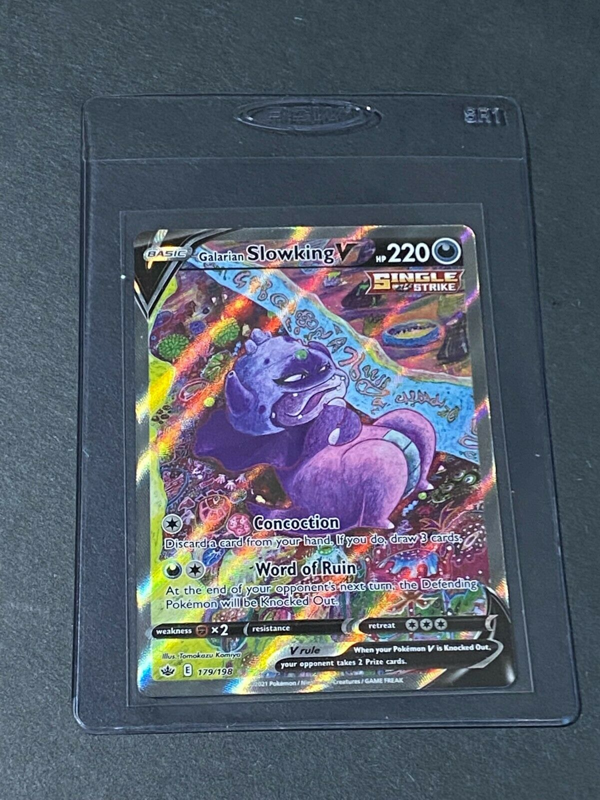 Galarian Slowking V 179/198 Alternate Full Art Pokémon TCG Chilling Reign