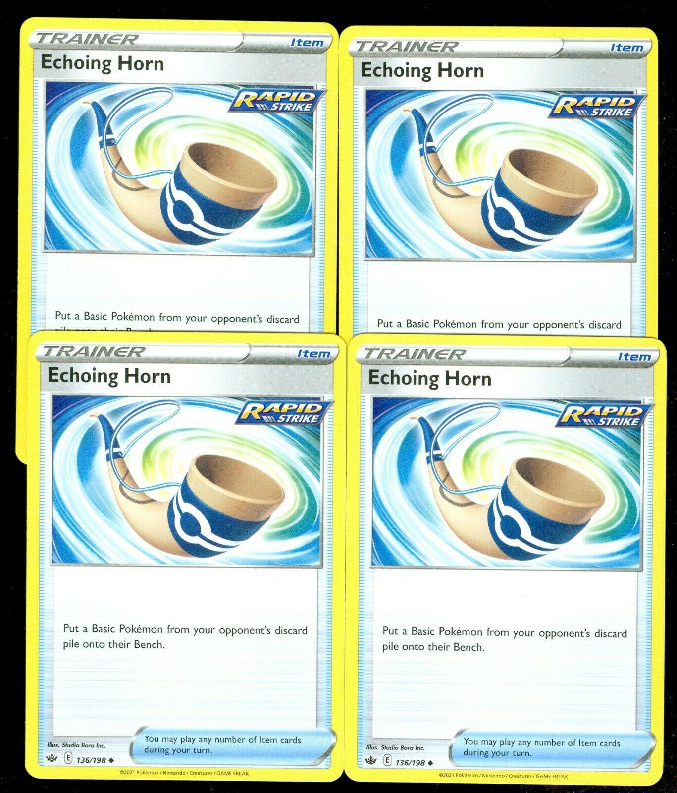 Pokemon ECHOING HORN 136/198 Chilling Reign - - MINT 4X