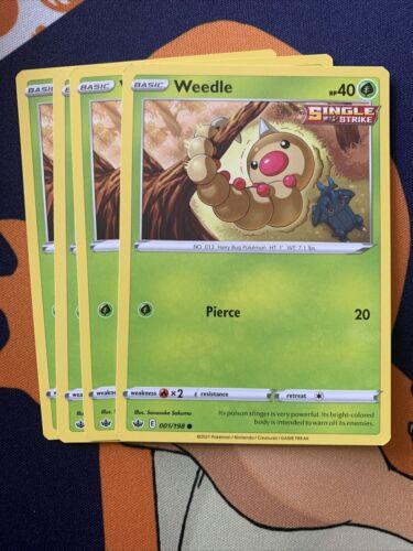 4x Weedle Chilling Reign 001/198 Pokémon - Playset