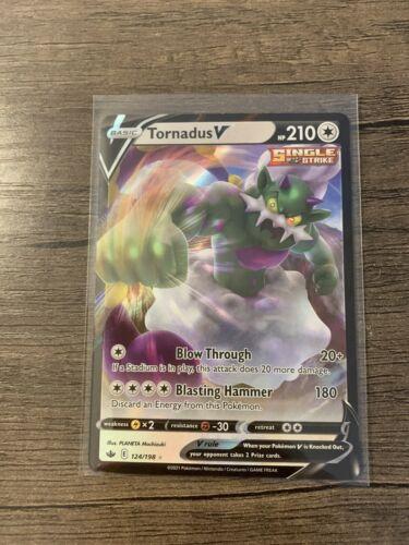 Pokémon TCG Tornadus V 124/198 Ultra Rare Chilling Reign NEW IN-HAND w Toploader