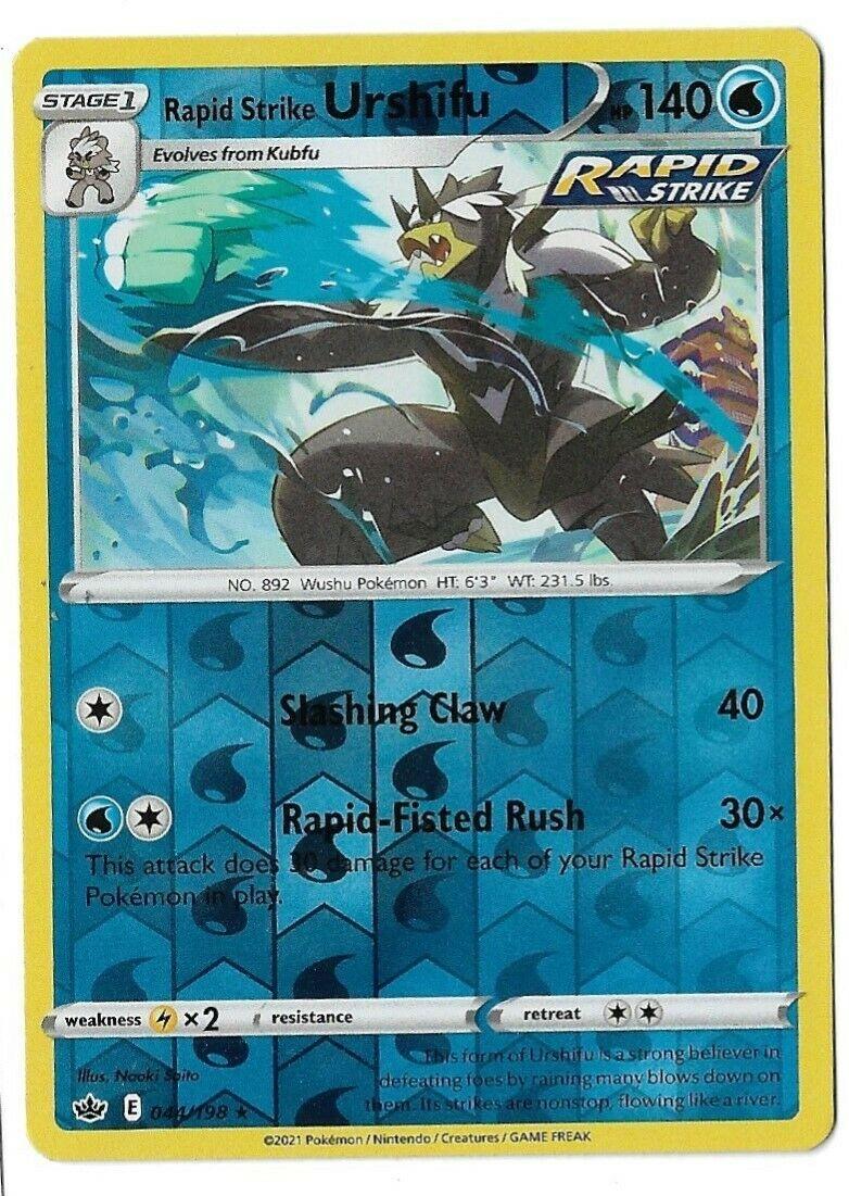 Pokemon TCG Chilling reign reverse holo Rapid Strike Urshifu 044/198 NM  - Image 1