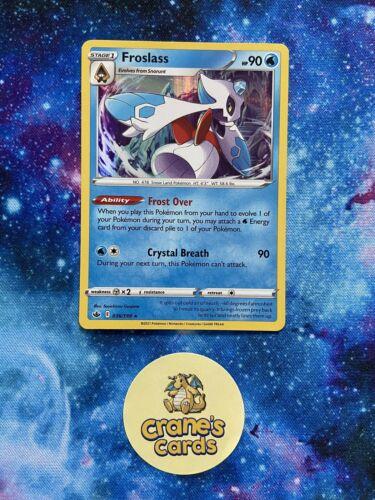 Froslass Holo Rare 036/198 SWSH Chilling Reign Mint Pokemon Card
