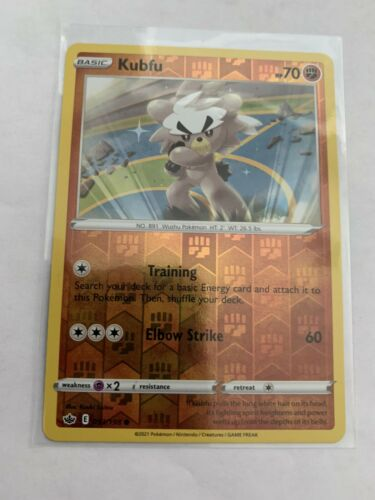 Pokemon Card Chilling Reign Kubfu - 093/198 - Common Reverse Holo NM/ Mint
