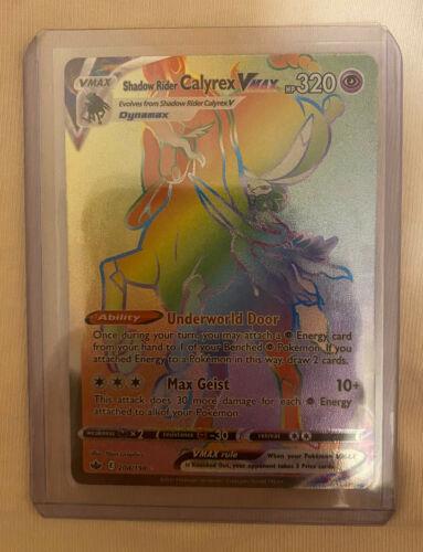 shadow rider calyrex VMAX Rainbow Rare 204/198 Chilling Reign Pokemon TCG