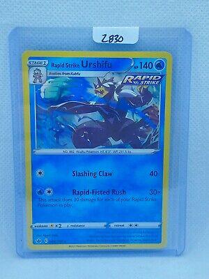 Pokémon TCG Rapid Strike Urshifu Holo 044/198   Chilling Reign   Play/Grade Rdy