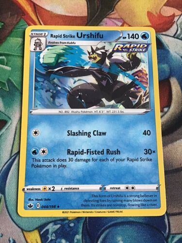 Rapid Strike Urshifu 044/198 Pokemon card Chilling Reign HOLO