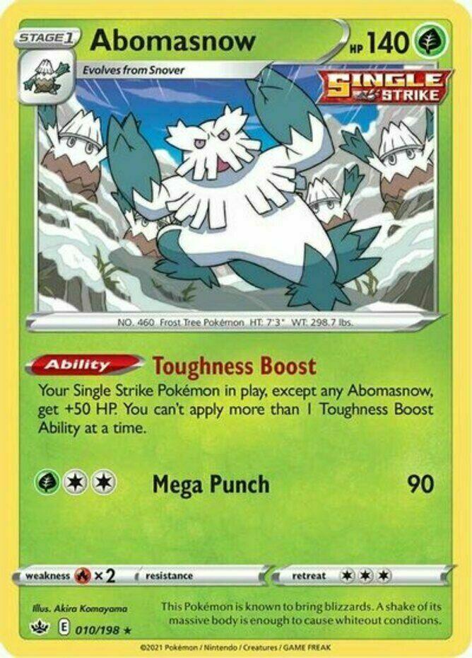Pokemon - Abomasnow - 010/198 - Rare - Chilling Reign - NM/M