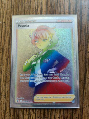 Peonia - 219/198 Holo Pokemon Card Chilling Reign